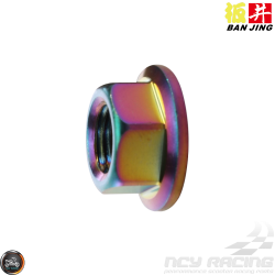 Ban Jing Nut M12 Smooth Electroplated Titanium (QMB, GY6, Universal)