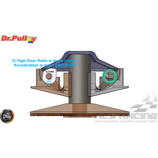 Dr. Pulley Variator Sliding Weight Set 18x14 (GY6)