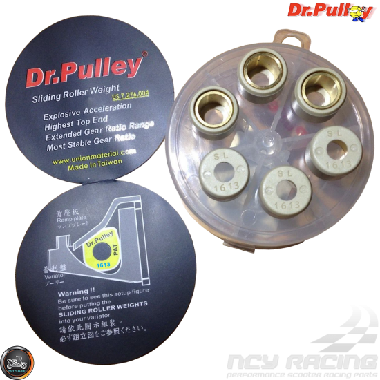 Dr Pulley 8.5gm 15x12 Round Roller Weights for Minarelli 50cc 2-stroke engines