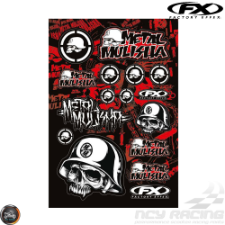 Factory Effex Metal Mulisha Sticker Set (A3/B Size Sheet)