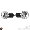 G- Bar-End 7/8in CNC Silver Set (Universal)