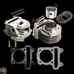 G- Cylinder 47mm 72cc 2V Cast Big Bore Kit Duo Combo Fit 69mm (139QMB)