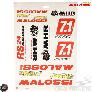 Malossi Sticker Set (A3 Size Sheet)