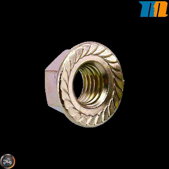 MotoForce Nut M12 Serrated (QMB, GY6, Universal)