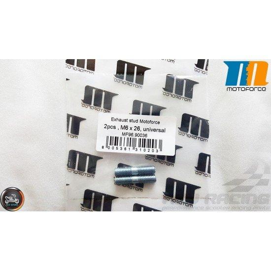 MotoForce Exhaust Stud M6x26mm Set (QMB, GY6)