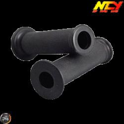 NCY Throttle Grip 7/8in Open-End Black Set (GY6, Ruckus, Universal)