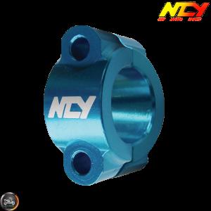 NCY Handlebar Lever Bracket 7/8in Alloy Blue Set (QMB, GY6, Universal)