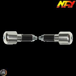 NCY Bar-End 7/8in CNC Chrome Set (Universal)