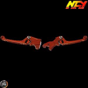NCY Brake Lever Adjustable Orange Set Disc Type (Honda PCX)