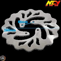 NCY Brake Disc 260mm Fixed w/Adapter (Honda PCX)