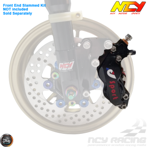 NCY Brake Caliper 4 Piston Black (Honda Ruckus)