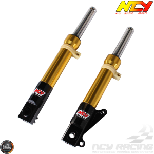 NCY Front Fork Gold Set Disc Type (DIO, Ruckus)