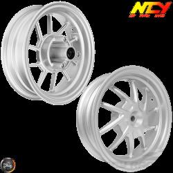 "NCY Rim Set 10"" Silver 10-Spokes (Honda Ruckus)"
