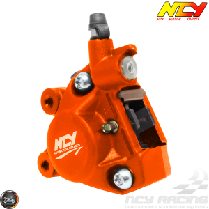 NCY Brake Caliper 2-Piston Forged Orange (Buddy, JOG, Zuma 50)