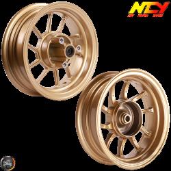 NCY Rim Set 10in Gold 10-Spokes (Honda Ruckus)