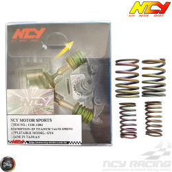 NCY Valve Springs 11,000 RPM 2V Electroplated Titanium (139QMB, GY6)