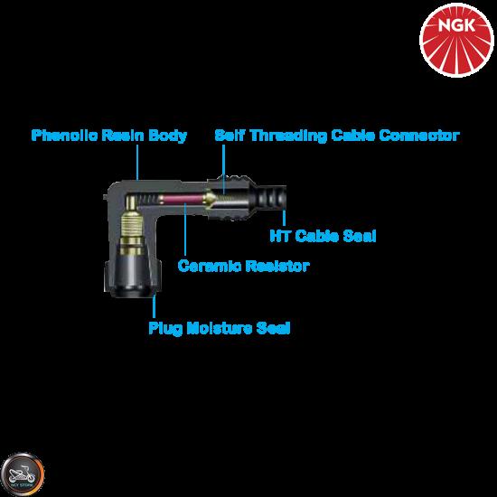 NGK Spark Plug Cap 120° Elbow (VB05E)