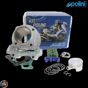 Polini Cylinder 50mm 81cc Nikasil Bore Kit w/Cast Piston Plus Weights (139QMB)