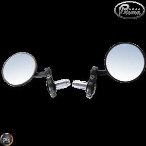 Prima Bar-End Mirror 7/8in Billet Black Set (Universal)