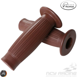 Prima Throttle Grip 7/8in Bestoon Brown Set (GY6, Ruckus, Universal)