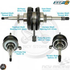 SSP-G Crankshaft 44mm 16T Performance Stroker (139QMB)