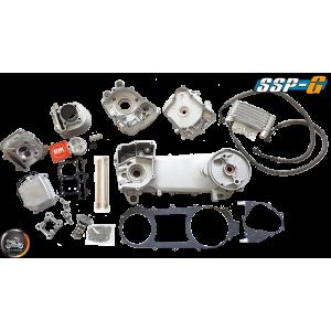 SSP-G Crankcase 63mm 180cc 2V Big Bore Power Kit w/Oil Cooler (GY6 longcase)