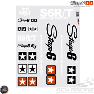 Stage6 MKII Sticker White Set (A2 Size Sheet)
