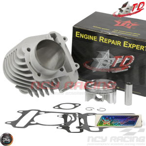 Taida Cylinder 63mm 180cc Ceramic Bore Kit w/HC 4V Forged Piston Fit 54mm (GY6)