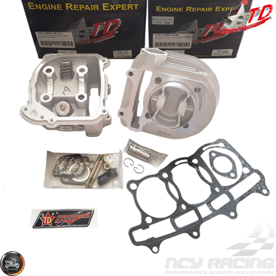 Taida Cylinder 61mm 171cc 2V Forged Big Bore Kit Duo Combo Fit 54mm (GY6)