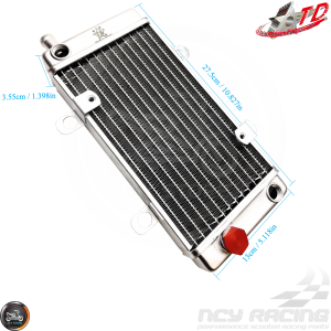 Taida Radiator 10.83in w/Thermostat Fill Cap (DIO, GY6, Universal)