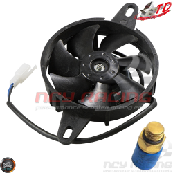 Taida Radiator Fan + Thermostat (DIO, GY6, Universal)