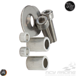 TRS Front Axle Spacer Silver Kit (Ruckus, Zoomer)