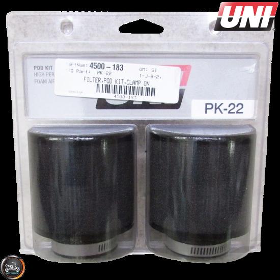 UNI Air Filter Pod 38mm 2-Set Straight (PK-22)