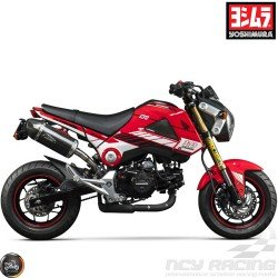 Yoshimura Graphics Decal Kit Red 2014-15 (Honda Grom)